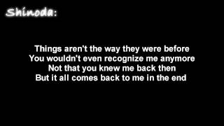 Repeat youtube video Linkin Park- In The End [ Lyrics on screen ] HD