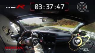 Honda 2017 Type R – VBox Nürburgring lap record footage thumbnail