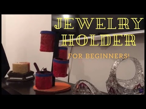 DIY-Recycled Material Used For Making A Easy Jewelry Holder| Diy All The Way!