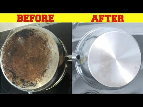 EXPERIMENTAL How To CLEAN  YOUR BURNED POT BACK.