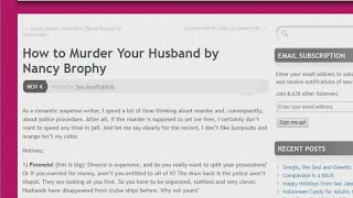 Accused wife wrote 'How to Murder Your Husband'