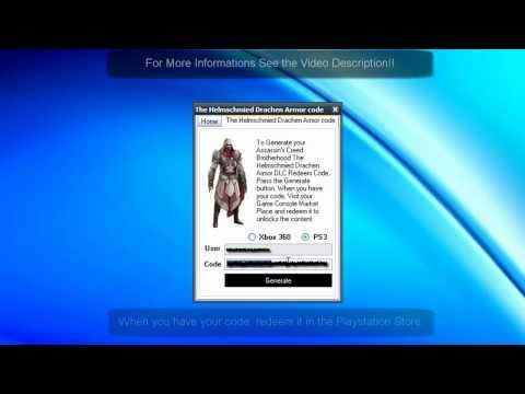 Brotherhood Helmschmied Drachen Armor DLC Code For Free on Xbox 360 And PS3