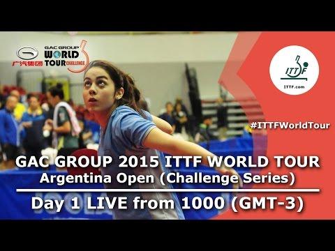 GAC Group 2015 ITTF World Tour Argentina Open - Day 1