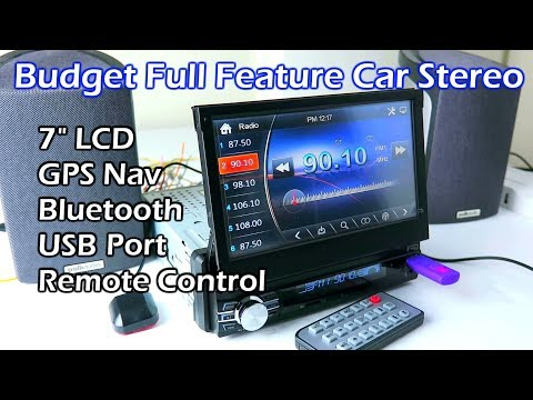 Budget Full Feature 7' LCD Touchscreen Car Stereo