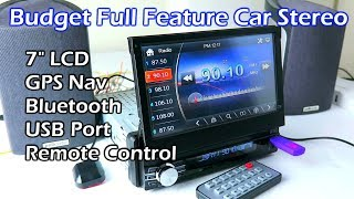 "Budget Full Feature 7"" LCD Touchscreen Car Stereo"