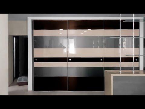 Интересный шкаф купе для зала - современный стиль
