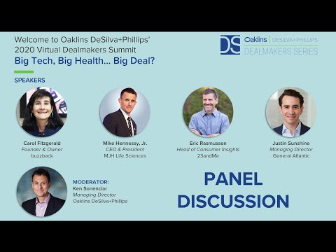 ODP Virtual Dealmakers Summit - Big Tech, Big Health... Big Deal? Panel Discussion