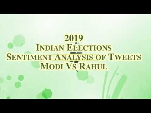 Analysis Of Emotions Or Sentiments In Tweets | Modi Vs Rahul 2019 Indian Elections