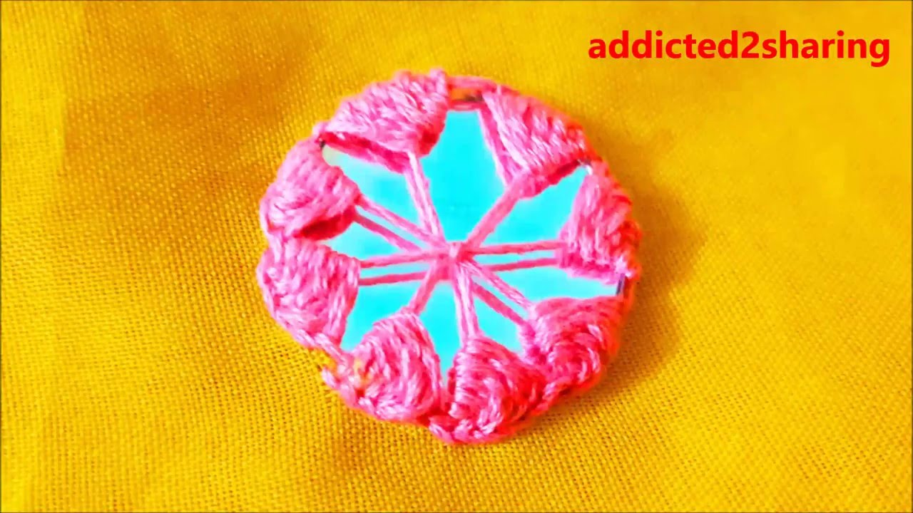 Hand embroidery mirror work shisha youtube