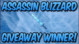 *NEW* ASSASSIN BLIZZARD GIVEAWAY WINNER! (Roblox)