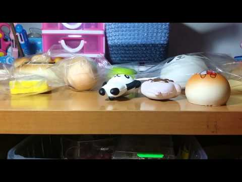 My squishy collection update #1 La mia collezione di squishy aggiornata - YouTube
