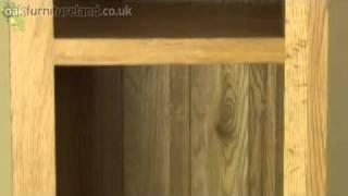 Cairo Solid Oak Slim Jim Bookcase From Oak Furniture Land