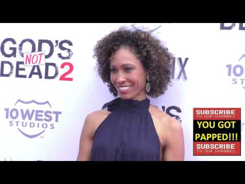 Sage Steele at the Gods Not Dead 2 Premiere at Directors Guild in West Hollywood