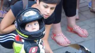 The youngest motorcycle racer Ukraine, whose age 2 years and 10 months!