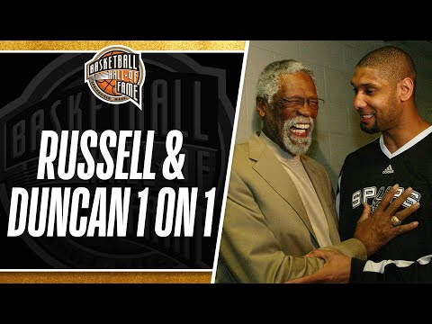 Bill Russell and Tim Duncan Go One-On-One