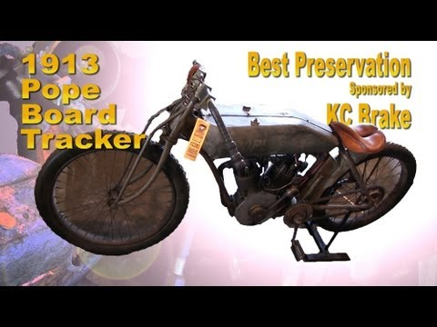 Clymer Manuals Pope Antique Board Track Racer Tracker Motorcycle Walk Around Video