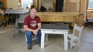 Kids Table and Chairs - Woodworkers Fighting Cancer