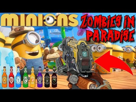 MINIONS ZOMBIES PARADISE: AMAZING WEAPONS & 13 PERKS! (BO3 C