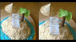 как сделать шезлонг,пальму и зонт из мастики /  chaise lounge,a palm tree and an umbrella of mastic