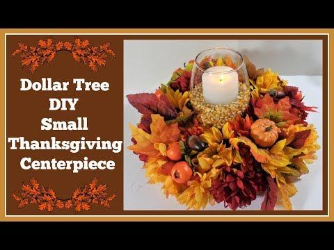 Dollar Tree DIY 🍂 Small Thanksgiving Centerpiece