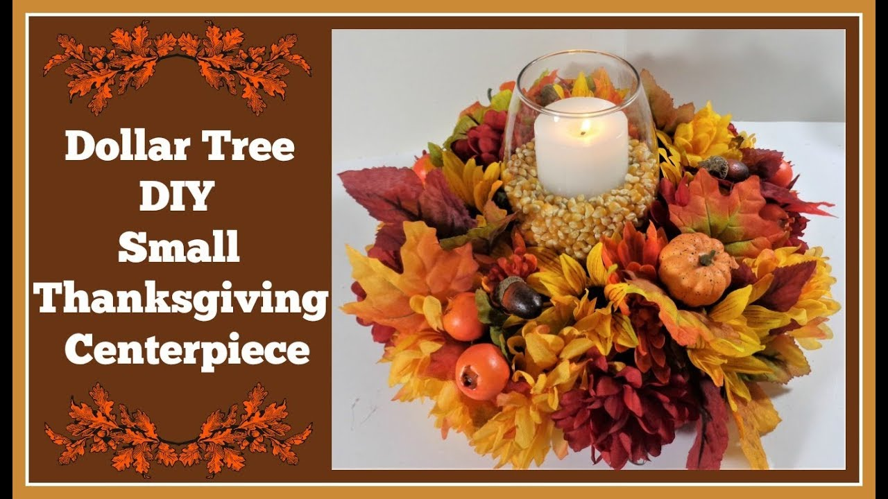 Dollar Tree Diy Small Thanksgiving Centerpiece