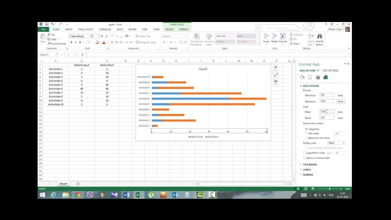 Diagrama Gantt In Excel