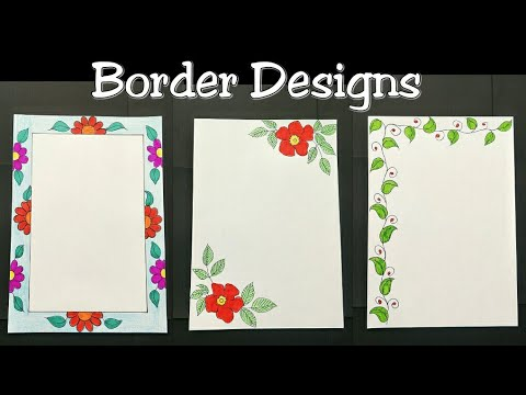 Border Designs For Project How To Make Easy Border Designs Border