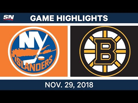 NHL Highlights | Islanders vs. Bruins - Nov 29, 2018