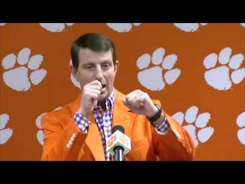 Dabo Swinney on how the White House trip came about