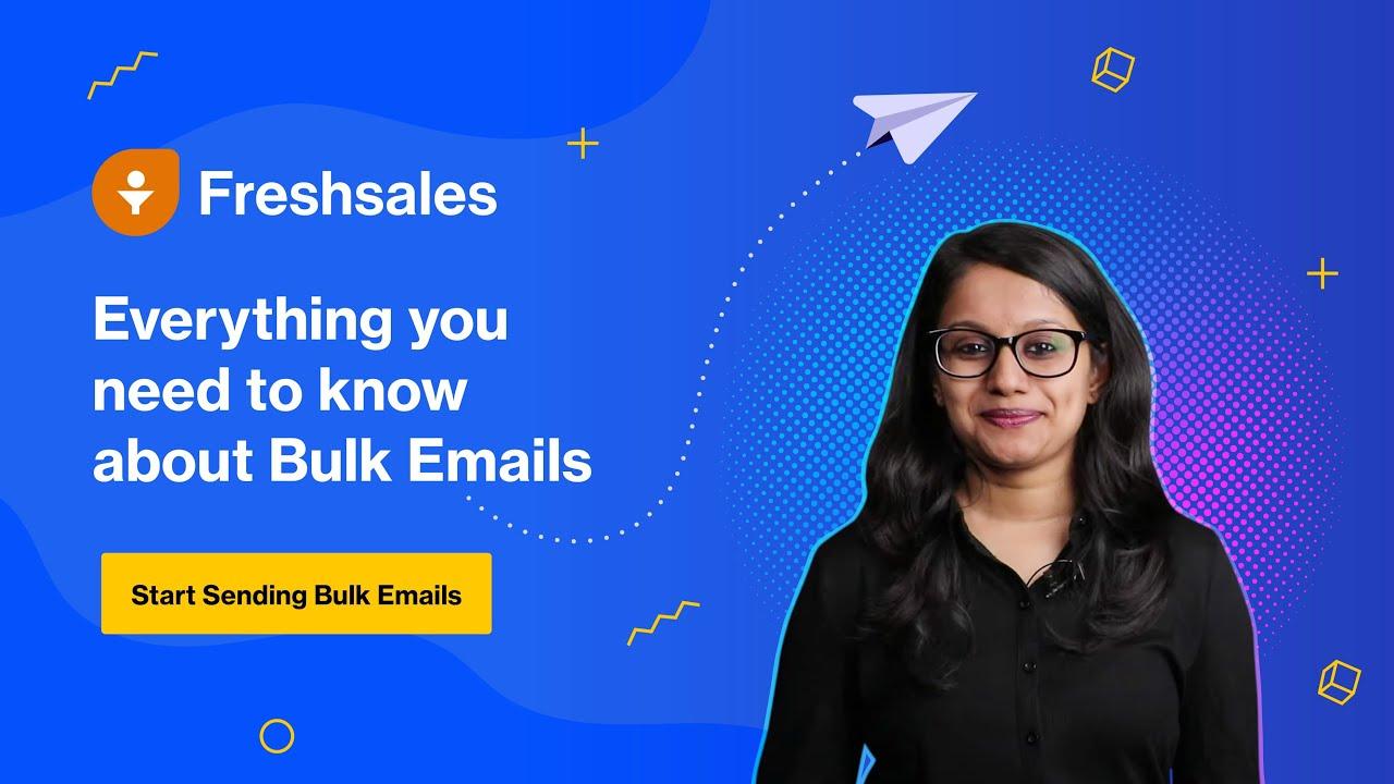 Bulk Emails in Freshsales