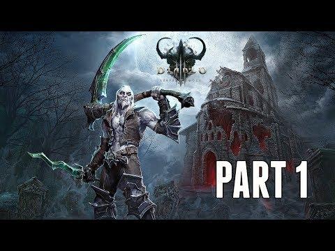 Diablo 3 Necromancer Campaign Walkthrough Part 1 - New Class & Intro (PS4 Pro Gameplay)