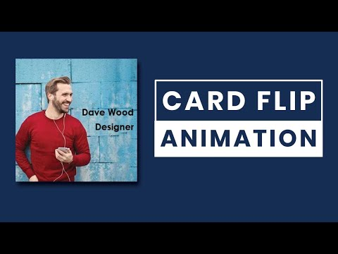 Card Flip Animation using HTML and CSS