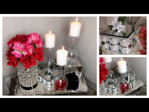 DollarTree Glam DIY Wine Glass Candle Holders |  Valentines & Pinterest Inspiration