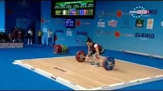 Тяжелая атлетика. Чемпионат Европы 2015 г. Женщины до 53 кг.