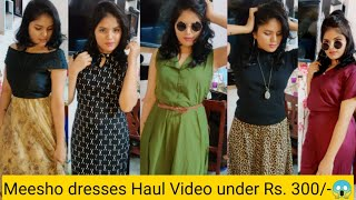 #Meesho dresses collection @Rs.298/- 😱| Haul Video 🥳| In Tamil |💯 quality | #TBT ❤️