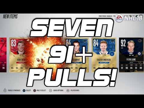 HUNT FOR NEW EVO'S - NHL 18 Pack Opening