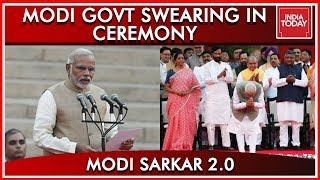 Narendra Modi Takes Oath As Prime Minister Along With 25 Cabinet Ministers & 33 MoS | Full Video