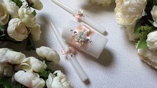 Семейный очаг своими руками. Домашний очаг. Свадебные свечи. Ручная работа. Wedding 2017.