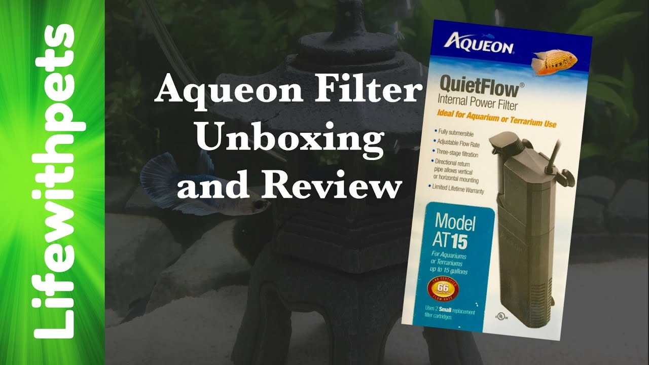 Aqueon QuietFlow Internal Filter Review and Unboxing