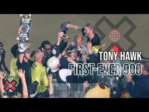 Tony Hawk lands the first-ever 900 - ESPN X Games