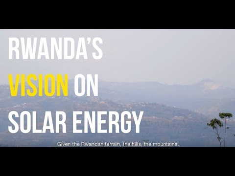 Vision on Solar Energy of the Government of Rwanda