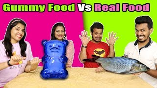 Gummy Food Vs Real Food Eating Challenge | Gummy Food Vs Real Food Eating Competition