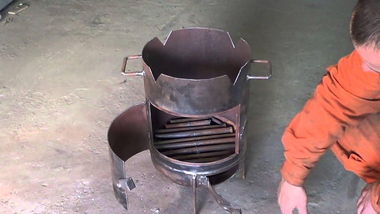 Легкая конструкция печи барбекю из кирпича