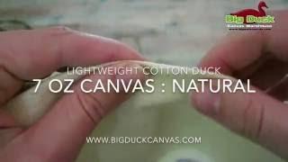 Light Sheer 7oz Cotton Duck Canvas Fabric