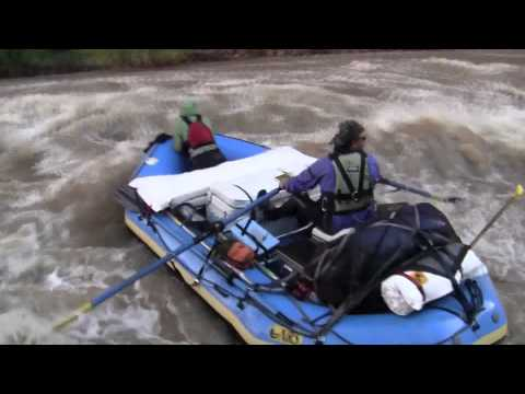 Yampa River High Water Raft Flip 2011