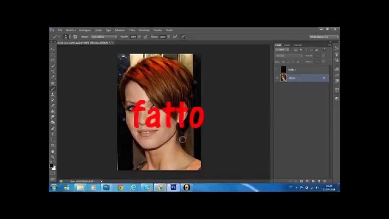 Photoshop cs6 cambiare colore ai capelli youtube - Cambiare colore ai mobili ...