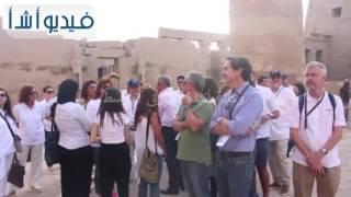 بالفيديو: الوفود المشاركة في مؤتمر السياحة العالمية بالأقصر يزورون معابد الكرنك