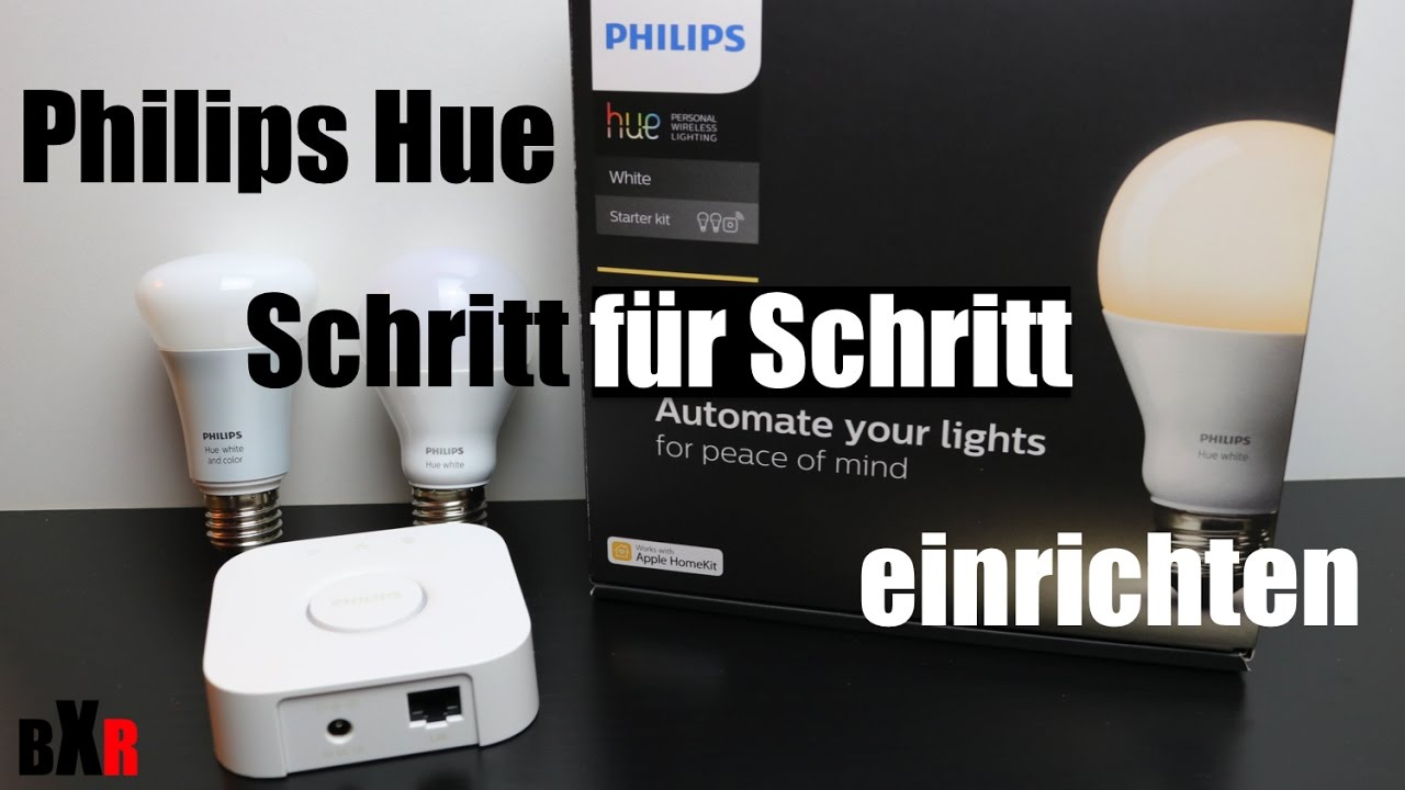 philips hue bridge und lampen einrichten schritt f r schritt anleitung deutsch youtube. Black Bedroom Furniture Sets. Home Design Ideas