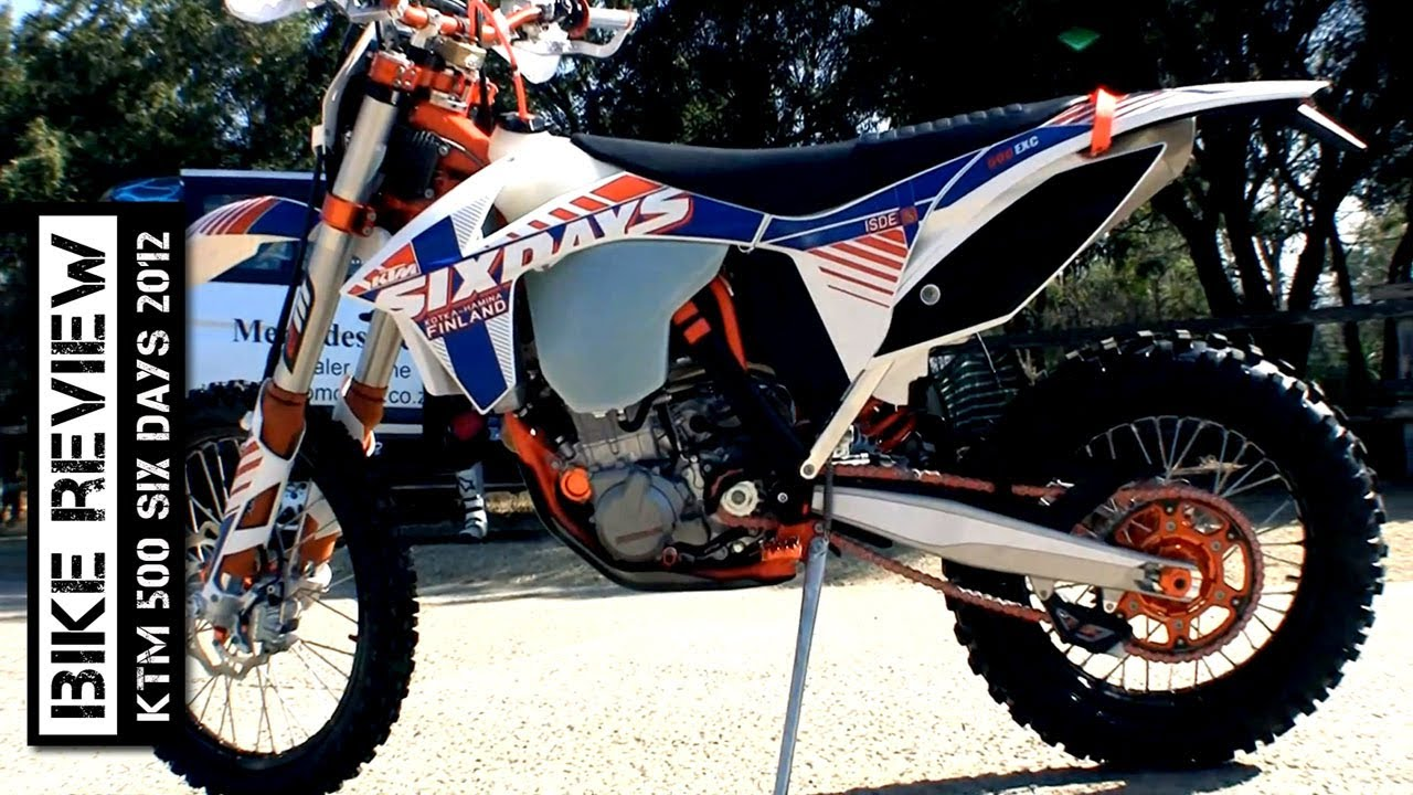 KTM 500 Six Days 2012 review - YouTube