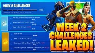 Week 2 Challenges LEAKED! Fortnite Season 7 Week 2 ALL CHALLENGES! Battle Pass Challenges Week 2